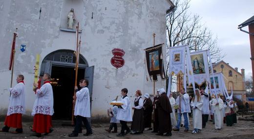 Húsvéti körmenet, Kuldiga, Lettország