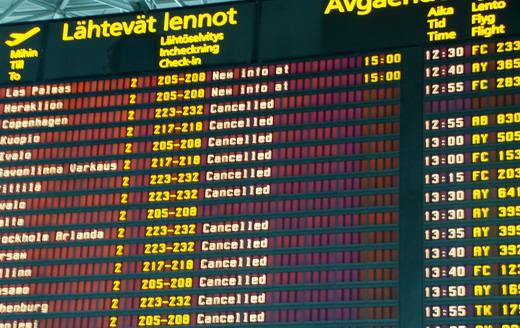 Helsinki Vantaa closed cancelled